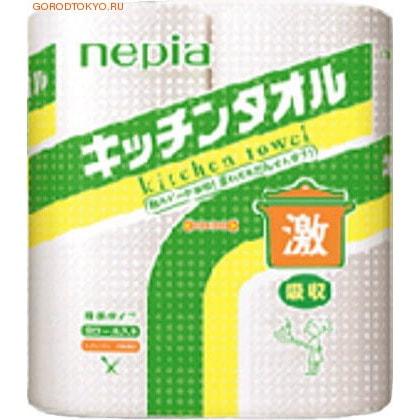NEPIA Кухонные полотенца, 2 рулона по 50 полотенец, Super Absorb Kitchen Towel Dobble.Бумажные полотенца и салфетки<br>Кухонные полотенца супервпитывающие в рулонах. Мягкие, очень приятные на ощупь, но в то же время обладают высокой прочностью. Эффективно справляются с любыми видами заг-рязнений, поскольку изготовлены из высококачест-венного сырья - древесной целлюлозы.  Полотенца прекрасно удаляют с поверхностей разлитые жидкости (чай, кофе, вино, соусы, сок и др.), впитывают влагу и жир. Используются для удаления воды с мяса, рыбы, овощей,  фруктов и масла с жаренных продуктов. Очищают от жира кухонную утварь, а также идеально подходят для ухода за обеденными столами, кухонной мебелью, столовыми приборами, плитами, СВ-печами, вытяжками, смесителями, стеклянными поверхностями, зеркалами и окнами.  Обладают замечательными впитывающими свойствами. Намокнув, полотенца сохраняют свою прочность: не рвутся, их можно отжимать. Благодаря удобной перфорации легко отрываются.  Подходят для дома, офиса и производственных помещений. Количество и размер рулона: 4 рулона по 50 полотенец.   Состав: натуральная 100% целлюлоза.<br>