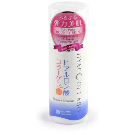 MEISHOKU HYALCOLLABO MILKY LOTION / Глубокоувлажняющее молочко с наноколлагеном и наногиалуроновой кислотой, 145 мл.АНТИВОЗРОСТНОЙ УХОД (ОТ З0-ТИ ЛЕТ И СТАРШЕ)<br>Глубокоувлажняющее молочко содержит два активных нано-компонента - наноколлаген (Наноколлаген способен проникать в более глубокие слои кожи, повышая ее влагоудерживающие свойства, разглаживая мелкие морщинки и неровности, обеспечивая легкий лифтинг кожи и восстанавливая ее упругость) и наногиалуроновую кислоту.  Молочко глубоко увлажняет, активно подтягивает кожу, поддерживает оптимальный уровень влаги в клетках, придаёт коже упругость и эластичность.  Активные компоненты - наноколлаген, наногиалуроновая кислота (в отличие от обычной гиалуроновой кислоты, которая исчезает с поверхности кожи после контакта с водой, наногиалуроновая кислота обладает способностью проникать в ее роговой слой и позволяет тем самым на протяжении длительного времени сохранять живительную влагу, как на поверхности кожи, так и изнутри) в составе молочка обладают особыми увлажняющими свойствами. Они обеспечивают глубокое увлажнение и упругую сияющую кожу.  Размер частицы наногиалуроновой кислоты составляет 1/100 от размера молекулы обычной гиалуроновой кислоты, интенсивно проникает в клетки кожи, глубоко увлажняя ее.  Размер частицы наноколлагена составляет 1/30 от размера молекулы обычного коллагена, придаёт коже упругость и эластичность.  Коже жизненно необходимы оба компонента. Именно в таком двойном сочетании они глубоко увлажняют и активно подтягивают кожу, великолепно дополняя друг друга.  Экстракт коры белой ивы позволяет влаге более глубоко проникать в клетки кожи, активизирует кровообращение, улучшая снабжение кожи кислородом.  Коэнзим Q10 - мощный антиоксидант, замедляет процесс старения, снабжает клетки кожи энергией и ускоряет их регенерацию.  Молочко не содержит искусственных красителей, имеет слабую кислотность, без отдушек.  <br> Способ применения: рекомендуется применять после использования лосьона данной серии или в