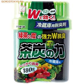 KOKUBO Двойной дезодорант-поглотитель неприятных запахов для холодильника, с углём и экстрактом зелёного чая (овощная камера), 180 гр.