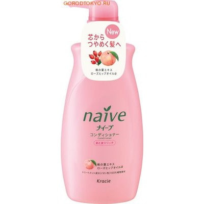 "Kracie ""Naive - Экстракт персика"" Кондиционер для сухих волос, 550 мл."