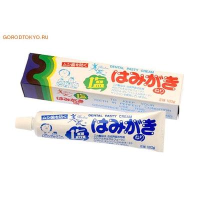 """Fudo Kagaku """"Binotomo salt"""" Зубная отбеливающая паста для защиты от кариеса и зубного камня, солёная, 120 гр."""