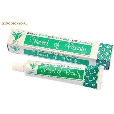"""Fudo Kagaku """"Binotomo Aloe"""" Зубная отбеливающая паста без образования пены, для защиты от кариеса и зубного камня, 80 гр."""