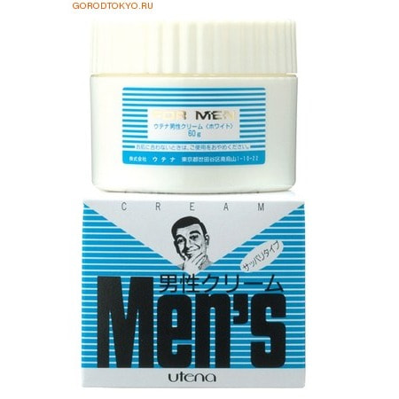 """Utena """"Men's"""" Тонизирующий защитный крем после бритья с витамином В6, 60 гр."""