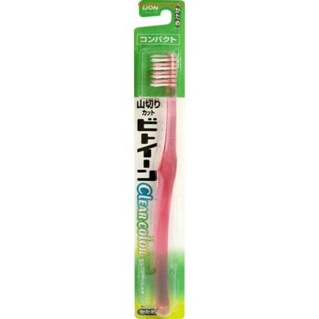 LION «Between Super Compact» - Зубная щётка с косым срезом щетинок, жёсткая.