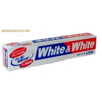 "LION Зубная паста ""WHITE&WHITE"", отбеливающая с кальцием, аромат натуральной мяты, 170 гр."