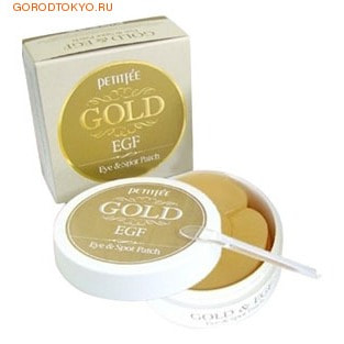 Petitfee Гидрогелевые патчи для кожи вокруг глаз с золотом и EGF, 90 шт.