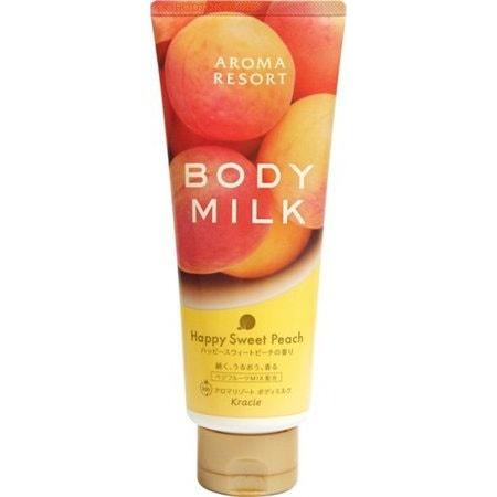 "KRACIE Питательное молочко для тела ""Aroma Resort - аромат персика"", 220 гр."