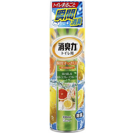 """ST """"Shoushuuriki"""" Спрей-освежитель воздуха для туалета с ароматом грейпфрута, 330 мл."""