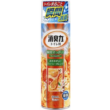 """ST """"Shoushuuriki"""" Спрей-освежитель воздуха для туалета, с антибактериальным эффектом, с ароматом апельсина, 330 мл. (фото)"""