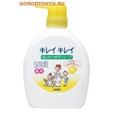 """LION Мыло жидкое для тела дезодорирующее для всей семьи """"Kireikirei - аромат лимона"""", 580 мл."""
