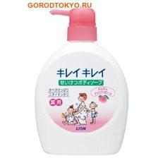 """LION Жидкое мыло для тела с дезодорирующим эффектом для всей семьи """"Kireikirei"""", с ароматом персика, 580 мл."""