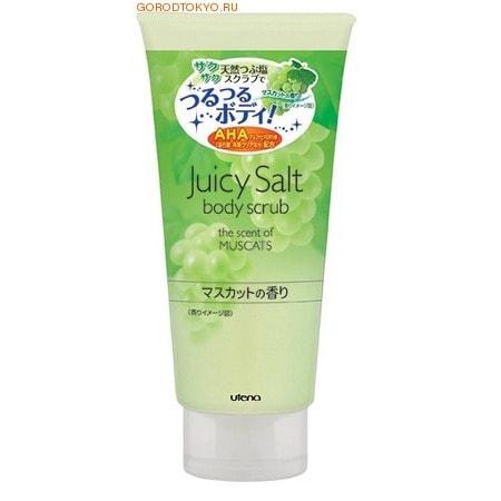 UTENA Juicy Salt Скраб для тела с альфагидрокислотой на основе соли с ароматом винограда, 300 гр.Антицеллюлитные средства, скрабы для тела<br>Скраб для тела с ароматом винограда делает кожу светлой, гладкой и идеально чистой. Натуральные гранулы соли и специальный компонент (альфагидроксикислота), содержащиеся в данном скрабе, устраняют старые ороговевшие клетки кожи, очищают поры и убирают излишний кожный жир. Особые вещества скраба поддерживают кожу в увлажненном состоянии даже после приема ванны. <br> Способ применения:  Равномерно нанесите скраб на увлажнённое тело и слегка помассируйте. После этого тщательно смойте.  Рекомендуется использовать 1-2 раза в неделю. <br> Состав: Хлорид натрия, вода, полиглицерила-10 рауринат, экстракт грейпфрута, ферментная жидкость соевого молока,  глицерин, бентонит, агар-агар, хидроксипропилметил-целлюлоза, EDTA-4Na, BG, метилпарабен, красители: жёлтый 203, синий 1, ароматизатор.<br>