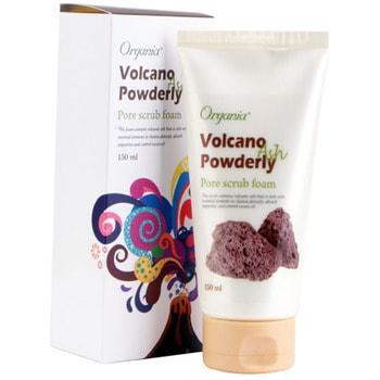 "WHITE COSPHARM ORGANIA ""Volcano Scrub"" Пенный скраб с вулканическим пеплом, 150 мл."