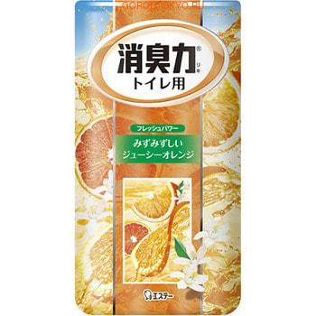 "ST ""Shoushuuriki"" Жидкий дезодорант – ароматизатор для туалета с ароматом апельсина, 400 мл."