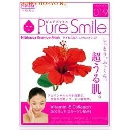 SUN SMILE Essence mask Освежающая маска для лица с эссенцией гибискуса, 23 мл., 1 шт.ДЛЯ КОЖИ СКЛОННОЙ К ВОСПАЛЕНИЯМ И УГРЕВОЙ СЫПИ<br>Содержит экстракт цветов гибискуса для улучшения структуры кожи, увлажнения и предотвращения сухости. Особенно подходит для жирной кожи. Содержит гидролизированный коллаген ; для придания упругости и сияния уставшей коже.  Содержит экстракт гамамелиса ; для подтягивания кожи, улучшения её структуры, а также поддержания её здорового вида.  Экстракт портулака ; для предотвращения огрубения кожи, а также для поддержания её здорового вида. Способ применения: После умывания лица вытрите с него воду. Вскрыв пакет и вынув маску, растяните её и плотно приложите к коже лица, используя отверстия для глаз в качестве ориентиров.  Аккуратно снимите маску через 10-15 минут. <br> Используйте маску сразу же после вскрытия упаковки.  Использование 3-4 раза в неделю поможет поддержать кожу в здоровом, увлажнённом состоянии.  Применение маски в летний период будет ещё более приятным, если держать её в холодильнике. <br> Состав: Вода, глицерин, PEG/PPG-17/6-сополимер, гидролизированный коллаген, вода с гамамелисом, эстракт цветов гибискуса, глицирризинат двукалия, ксантановая камедь, экстракт портулака, PEG-14M, гиалуронат натрия, ароматизатор, EDTA-2Na, метилпарабен, PEG-40-гидрогенизированное касторовое масло, PEG-60-гидрогенизированное касторовое масло, алантоин, феноксиэтанол, токоферола ацетат.<br>