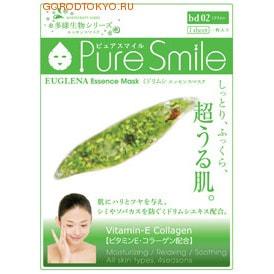SUN SMILE Living Essences Энергетическая маска для лица с эссенцией эвглены зелёной, 23 мл., 1 шт.СРЕДСТВА ПРОТИВ ПИГМЕНТАЦИИ - ДЛЯ ОТБЕЛИВАНИЯ КОЖИ<br>Содержит витамин Е и коллаген. Увлажняет, расслабляет и успокаивает. Для всех типов кожи во все сезоны. Кожа становится увлажнённой, упругой, на неё хорошо накладывается макияж.  Особенности товара: Содержит экстракт эвглены зелёной ; для предотвращения возникновения пятен или веснушек полученных в результате загара. Особенно подходит для комбинированной кожи.  Содержит гиалуронат натрия ; для придания коже увлажнения и упругости, а также для сохранения её эластичности.  Содержит экстракт забродившей сои ; для увлажнения кожи и предотвращения сухости. Содержит хондроитинсульфат натрия ; для предотвращения сухости кожи и для её гладкости. Способ применения: 1. После умывания лица вытрите с него воду и приведите лицо в порядок.  2. Вскрыв пакет и вынув маску, растяните её и плотно приложите к коже лица, используя отверстия для глаз в качестве ориентиров.  3. Аккуратно снимите маску через 10-15 минут.  Используйте маску сразу же после вскрытия упаковки.  Использование 3-4 раза в неделю поможет поддержать кожу в здоровом, увлажнённом состоянии.  Применение маски в летний период будет ещё более приятным, если держать её в холодильнике.  Состав: Вода, глицерин, PEG/PPG-17/6-сополимер, экстракт забродившей сои, вода с гамамелисом, глицирризинат двукалия, ксантановая камедь, экстракт портулака, экстракт эвглены зелёной, гиалуронат натрия, эритритол, PEG-14M, EDTA-2Na, метилпарабен, PEG-40-гидрогенизированное касторовое масло, лицин, гистезин, аргинин, аспарагиновая кислота, треонин, серин, глутаминовая кислота, пролин, глицин, аланин, валин, метионин, изолейцин, лейцин, тирозин, фенилаланин, цистеин, PEG-60-гидрогенизированное касторовое масло, алантоин, феноксиэтанол, ароматизатор, токоферола ацетат.<br>
