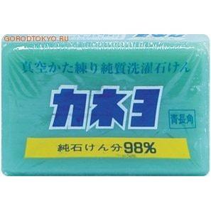 KANEYO Мыло для удаления загрязнений с воротников и манжет «Kaneyo», 190 гр.Мыло для стирки<br>Мыло на 100% натуральной мыльной основе отлично отстирывает въевшиеся загрязнения на рукавах и воротничках, также подходит для стирки носков, рабочих перчаток, одежды. Натуральные растительные жиры - компоненты чистой мыльной основы - обладают высокими отстирывающими свойствами. Специальный способ сушки вакуумом при изготовлении данного мыла позволяет использовать его экономично и долгий период времени.<br>