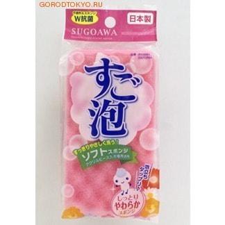 """Towa """"Sugoawa"""" Губка для мытья посуды мягкая, розовая."""