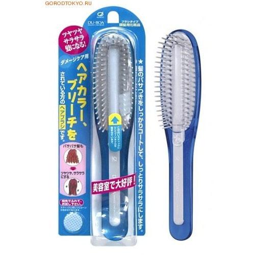 Ikemoto Щётка для волос с силиконовым стержнем, голубая.