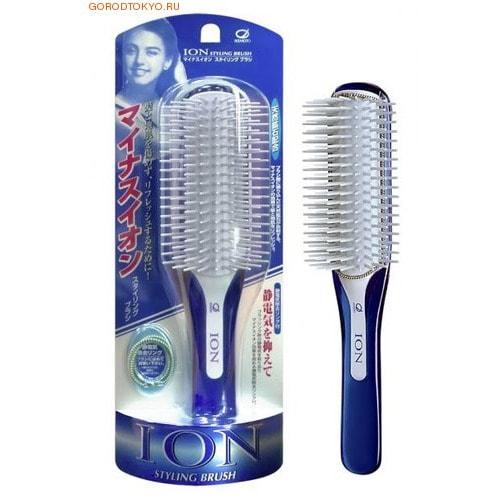 Ikemoto Щётка для укладки волос с ионами и природным минералом турмалин, большая.