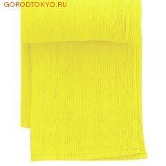 """MARNA Классическая нейловая мочалка """"Water Color"""", жёлтая, 27 см. на 105 см., средняя жёсткость. от GorodTokyo"""