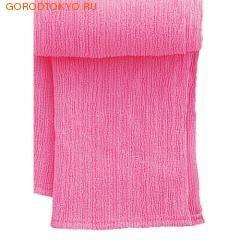 """MARNA Классическая нейловая мочалка """"Water Color"""", розовая, 27 см. на 105 см., средняя жёсткость."""