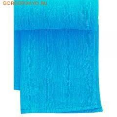 """MARNA Классическая нейловая мочалка """"Water Color"""", синяя, 27 см. на 105 см., средняя жёсткость. от GorodTokyo"""