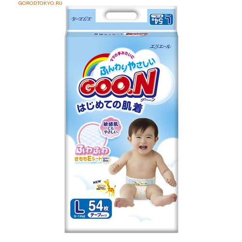 "Daio paper Japan Подгузники ""Goon"", L - 9-14 кг., 54 шт."