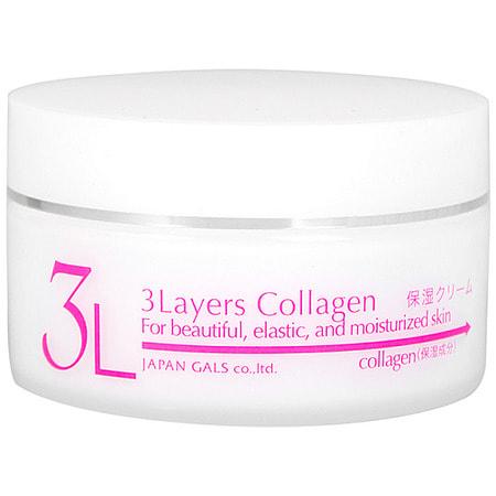 """JAPAN GALS """"3 Layers Collagen"""" Увлажняющий и подтягивающий крем для лица с трехслойным коллагеном, 60 гр."""