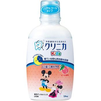 LION Clinica KID`S Sukkiri Ополаскиватель для полости рта детский, вкус персика, 250 мл.Зубные элексиры<br>Детский зубной эликсир Clinika Kids обеспечивает надежный уход за полостью рта и предотвращает возникновение кариеса у малыша. Входящий в состав антибактериальный компонент (цетилпиридинхлорид), уничтожает болезнетворные бактерии, препятствует появлению зубного налета. Содержит натуральный подсластитель - ксилитол. Обладает приятным персиковым вкусом.  Способ применения: снимите дозирующий  колпачок с бутылки, нажмите на верхнюю часть дозатора, перелейте необходимое количество средства в колпачок, дайте ребенку прополоскать рот в течение 20 секунд. Проконтролируйте чтобы ребенок не проглотил средство. <br>Состав: глицерин, ароматизаторы, ксилит, сахарин, лимонная кислота (Na), парабен, цетилпиридинхлорид.<br>