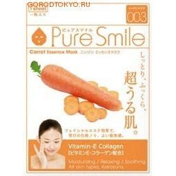 "SUN SMILE ""Essence mask"" Увлажняющая маска для лица с эссенцией моркови, 23 мл., 1 шт."