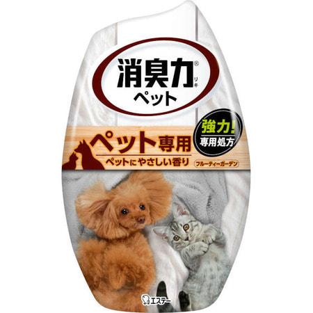 """Фото ST """"Shoushuuriki"""" Жидкий дезодорант – ароматизатор для комнат против запаха домашних животных c ароматом фруктовго сада, 400 мл.. Купить с доставкой"""