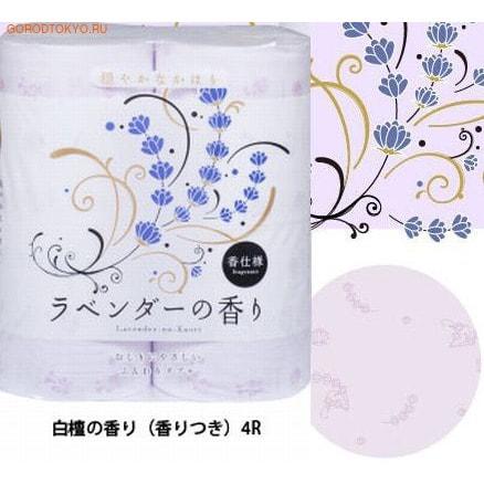 Shikoku Tokushi Парфюмированная туалетная бумага Shikoku Lavender-no-Kaori, 4 рулона, 2-х слойная. Аромат лаванды.Туалетная бумага<br>Туалетная бумага Shikoku серии Elvila представлена изысканным ароматом лаванды. По сравнению с синтетическим запахом обычной ароматизированной бумаги, ароматы Shikoku Tokushi ; природные, изысканные и утонченные. Также при производстве бумаги используется 100% целлюлоза, которая прошла тщательный отбор и особую обработку, а многолетний опыт сотрудников копании гарантирует высокое качество туалетной бумаги Shikoku Tokushi. Туалетная бумага Серии Elvila мгновенно впитывает даже большое количество воды, поскольку между слоями бумаги есть воздушное пространство, что позволяет сократить объемы используемой бумаги на треть, а глубокие линии тиснения обеспечивают надежное соединение слоев и прочность бумаги.  Туалетная бумага Shikoku изготовлена из природных материалов и воды из источников Ниёдогава.  Состав: натуральная 100% целлюлоза.<br>