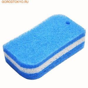 Ohe Corporation Губка для ванной, трехслойная.Губки и щётки для чистки ванны, туалета и других поверхностей<br>Губка предназначена для очистки полиуретановых, эмалированных, железных ванн.  Особенности продукта:  - Поскольку губка располагается между слоями нетканого материала с мелкими волокнами, грязь можно удалять с помощью этой губки и воды без использования чистящих средств.  - Для удаления сильных загрязнений используйте немного нейтрального чистящего средства.  - Губка имеет удобное отверстие для крючка.  - Мягкий изгиб позволяет удобно разместить губку в руке.  - Прямой угол губки удобен для очистки углублений (углов). <br> Внимание при применении:  после использования хорошо промойте, выжмите и просушите. Не оставляйте рядом с нагревательными приборами. Не используйте в других целях. <br> Состав: нетканая поверхность из нейлон - полиэстера, губка - полиуретан.  Выдерживает температуру до 90С.<br>