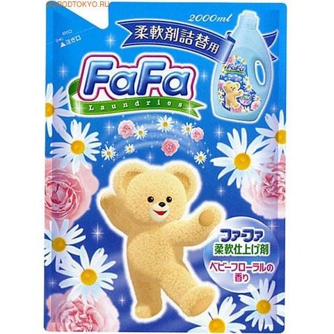 NISSAN Кондиционер для детского белья «Fa-Fa» c цветочным ароматом , 2000 мл., сменная упаковка.