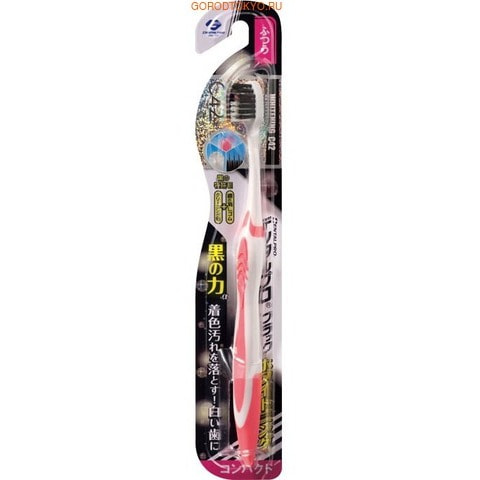 """Dentalpro Зубная щётка """"Black"""" отбеливающая, с коллоидной керамикой, средняя жёсткость."""