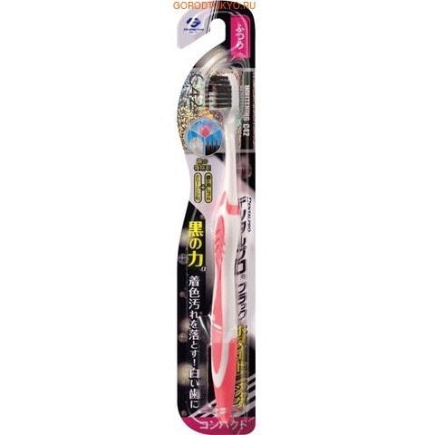 """Dentalpro Зубная щётка """"Black"""" отбеливающая, с коллоидной керамикой, средняя жёсткость, 1 шт. (фото)"""