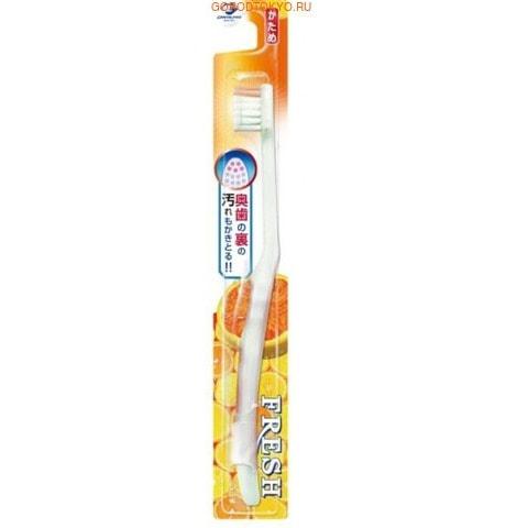Dentalpro Зубная щётка Fresh Hard-Tip, жёсткая.УХОД ЗА ПОЛОСТЬЮ РТА<br>Прекрасно удаляет налёт с задней поверхности зубов. <br> Размещение специальных жёстких щетинок в верхней части головки позволяют значительно повысить эффективность очистки. <br> Не оказывает травмирующего воздействия на десны.  <br> Удобная форма ручки и резиновая накладка на ней обеспечивают контроль за движением щётки, маневренность и комфорт в использовании. <br> Способ применения: нанести на влажную щётку зубную пасту или порошок. Чистить зубы в течение 2-3 минут. <br> Состав: нейлон, полипропилен, EPMD, полиолы.<br>