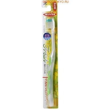 Dentalpro Зубная щётка Fresh Spiral-Tip, жёсткая.УХОД ЗА ПОЛОСТЬЮ РТА<br>Спиральная форма щетинок позволяет чистить даже боковой стороной щётки. Такая конструкция позволяет эффективно очищать поверхность зубов при любой силе нажатия. <br> Не оказывает травмирующего воздействия на десны.  <br> Удобная форма ручки и резиновая накладка на ней обеспечивают контроль за движением щётки, маневренность и комфорт в использовании. <br> Способ применения: нанести на влажную щётку зубную пасту или порошок. Чистить зубы в течение 2-3 минут. <br> Состав: нейлон, полипропилен, EPMD, полиолы.<br>