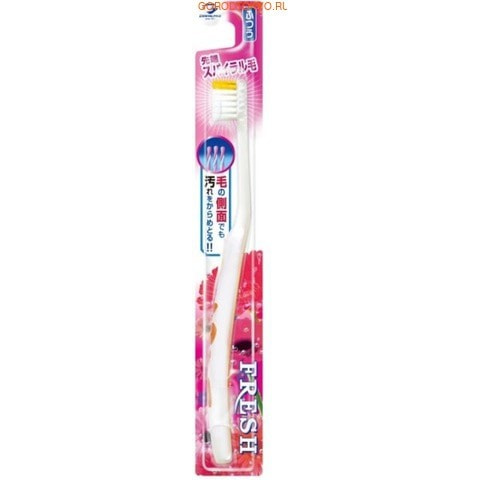 Dentalpro Зубная щётка Fresh Spiral-Tip, средняя жёсткость.УХОД ЗА ПОЛОСТЬЮ РТА<br>Спиральная форма щетинок позволяет чистить даже боковой стороной щётки. Такая конструкция позволяет эффективно очищать поверхность зубов при любой силе нажатия. <br> Не оказывает травмирующего воздействия на десны.  <br> Удобная форма ручки и резиновая накладка на ней обеспечивают контроль за движением щётки, маневренность и комфорт в использовании. <br> Способ применения: нанести на влажную щётку зубную пасту или порошок. Чистить зубы в течение 2-3 минут. <br> Состав: нейлон, полипропилен, EPMD, полиолы.<br>
