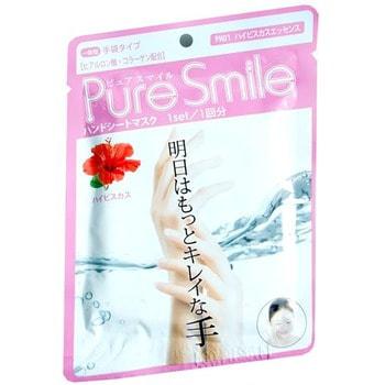 SUN SMILE Pure Smile Питательная маска для рук с эссенцией гибискуса, 16 гр.Кремы для рук, маски<br>Маска для рук Pure Smile, это необходимый уход за достаточно проблемным участком кожи. Компоненты маски окажут интенсивное питание и увлажнение, осветлят и разгладят кожу рук.  Коллаген и гиалуроновая кислота, окажут мощное увлажняющее действие, вернут кожу плотность и упругость.  Эссенция гибискуса, стимулирует клеточный обмен, нормализует секрецию жировых желез, тонизирует кожу, улучшает ее эластичность и способствует омоложению.  Экстракт цветов лотоса, сгладит пигментацию и предотвратит ее образование.  Экстракт цветов сафлора питает кожу, снимает раздражение защищает от неблагоприятных факторов.  Способ применения: Разрежьте перчатки по пунктирной линии отделив их друг от друга. Наденьте перчатки на чистую кожу рук. В течение 10 - 15 минут массируйте руки в перчатках, затем снимите их, а остатки эссенции массирующими движениями вотрите в кожу. Использовать 2 - 3 раза в неделю.<br>