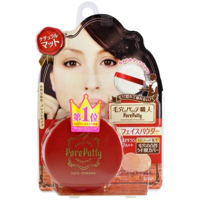 SANA PORE PUTTY FACE / Пудра для лица SPF 35 (c 3D- эффектом), натуральный оттенок.