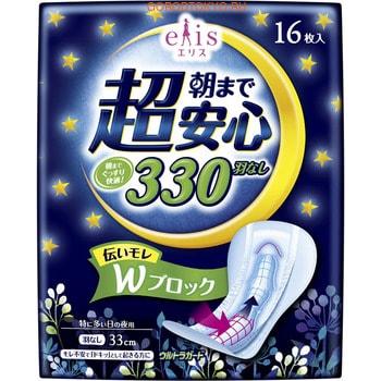 Daio paper Japan Ночные женские гигиенические прокладки «Elis Night Normal», без крылышек, 16 шт.Женские гигиенические прокладки и тампоны<br>Ночные женские гигиенические прокладки с мощным поглотителем особой формы, повторяющей изгибы тела, эффективно впитывает влагу и удерживает внутри.  Увеличенный размер и дополнительные бортики вдоль прокладки позволяют использовать ее всю ночь без страха протекания.  Поверхность прокладки, соприкасающаяся с кожей, гладкая, на ощупь как шелк и не вызывает раздражения. <br>  Прокладки изготовлены из современного высокотехнологичного дышащего материала, гарантирующего ощущение свежести во время использования. <br>  Рельеф прокладки повторяет все движения вашего тела, плотно прилегая к нему: таким образом, абсолютно исключается вероятность протекания. <br>  Состав: этилен, винилацетат, полиэтилен.<br>