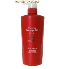 LION Восстанавливающий шампунь для поврежденных окрашиванием волос с цветочным ароматом «Free&Free Damage Aid», 500 мл.