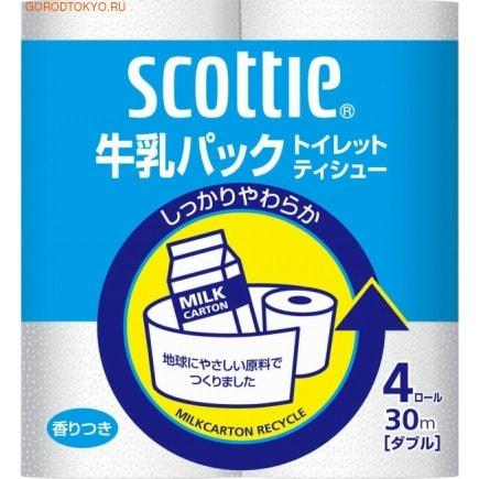 Nippon Paper Crecia Co., Ltd. Туалетная бумага из переработанной целлюлозы, с легким ароматом «Scottie», двухслойная, 4х30 м.Туалетная бумага<br>Туалетная бумага из переработанной целлюлозы мягкая и приятная на ощупь, благодаря современному процессу мультипереработки сырья.  Обладает хорошей впитываемостью, не оставляет ворсинок на теле и не расслаивается, не уступая по своим свойствам бумаге из первичной целлюлозы. <br>  Состав: 100% целлюлоза.<br>