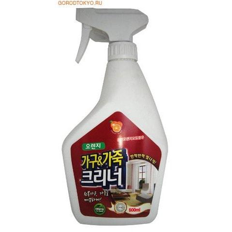 """KMPC """"ORANGE POWER Furniture & Leather Protect Cleaner"""" Жидкое средство для чистки мебели и изделий из кожи с апельсиновым маслом, 600 мл."""