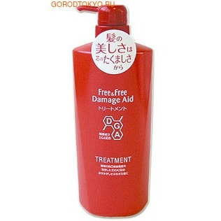LION «Free & Free Damage Aid» - Восстанавливающий кондиционер для поврежденных окрашиванием волос, с цветочным ароматом, 500 мл.