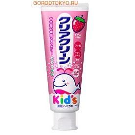 "KAO ""Clear Clean Kid's Strawberry - Свежая клубника"" Детская зубная паста со вкусом клубники, 50 гр."
