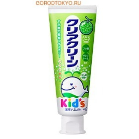 "KAO ""Clear Clean Kid's Melon - Спелая дыня"" Детская зубная паста со вкусом дыни, 50 гр."