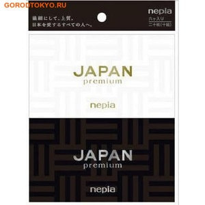 """NEPIA """"Japan premium"""" Платочки бумажные двухслойные, 6 упаковок по 10 платочков."""